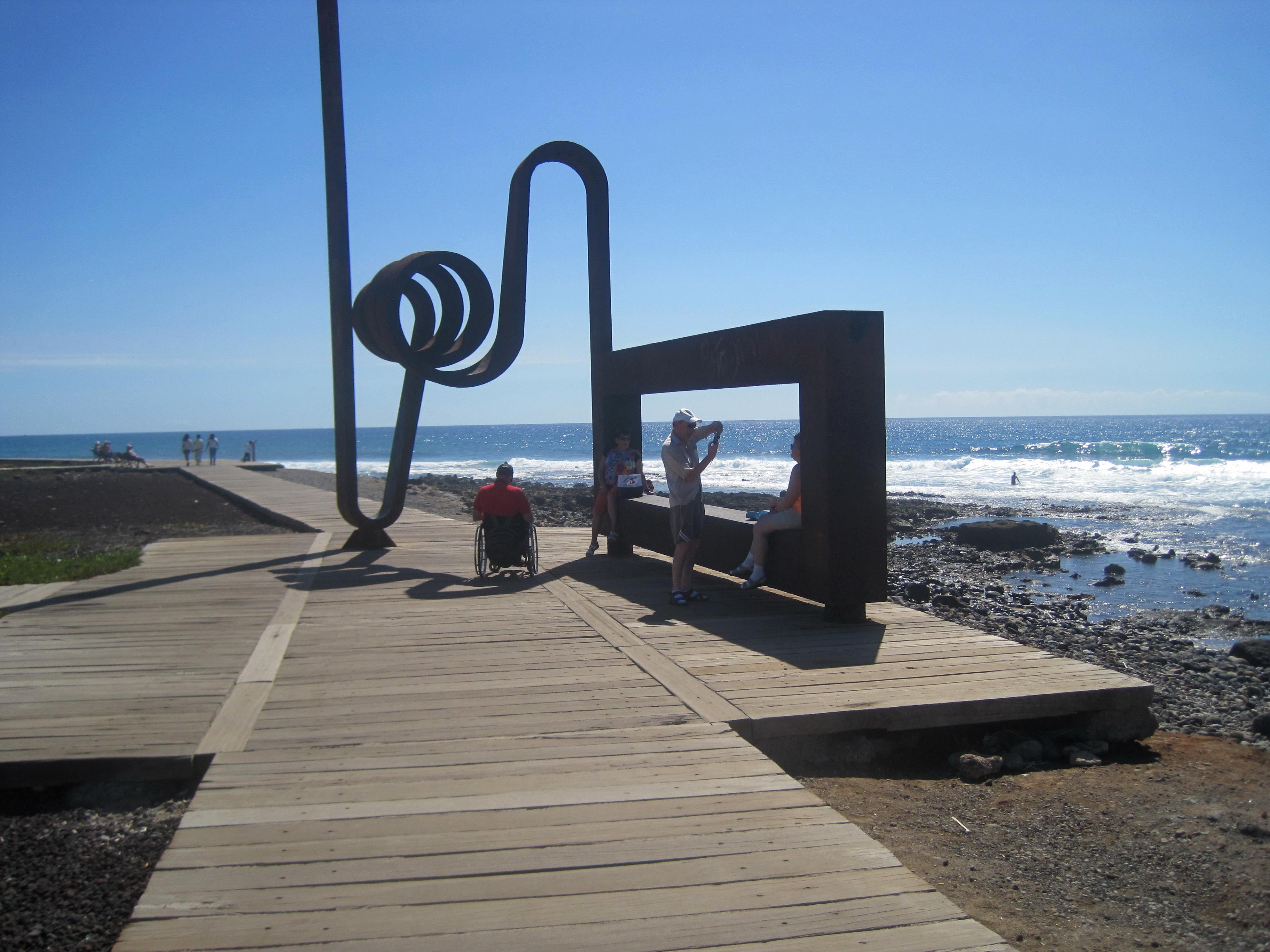 Ægteparret v stranden