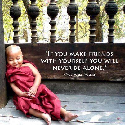 Bliv ven med dig selv.