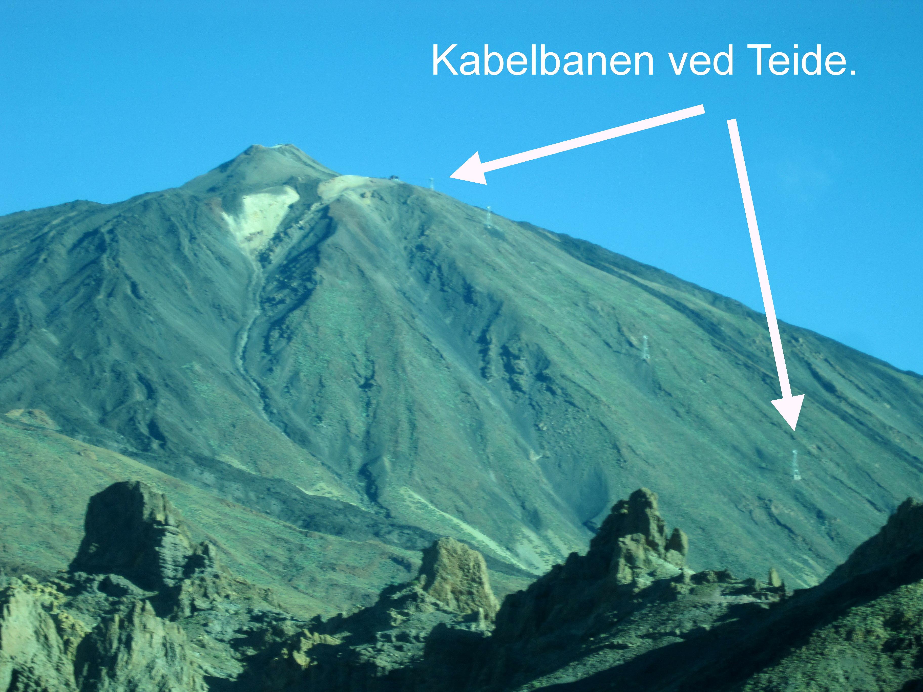 Kabelbanen ved Teide