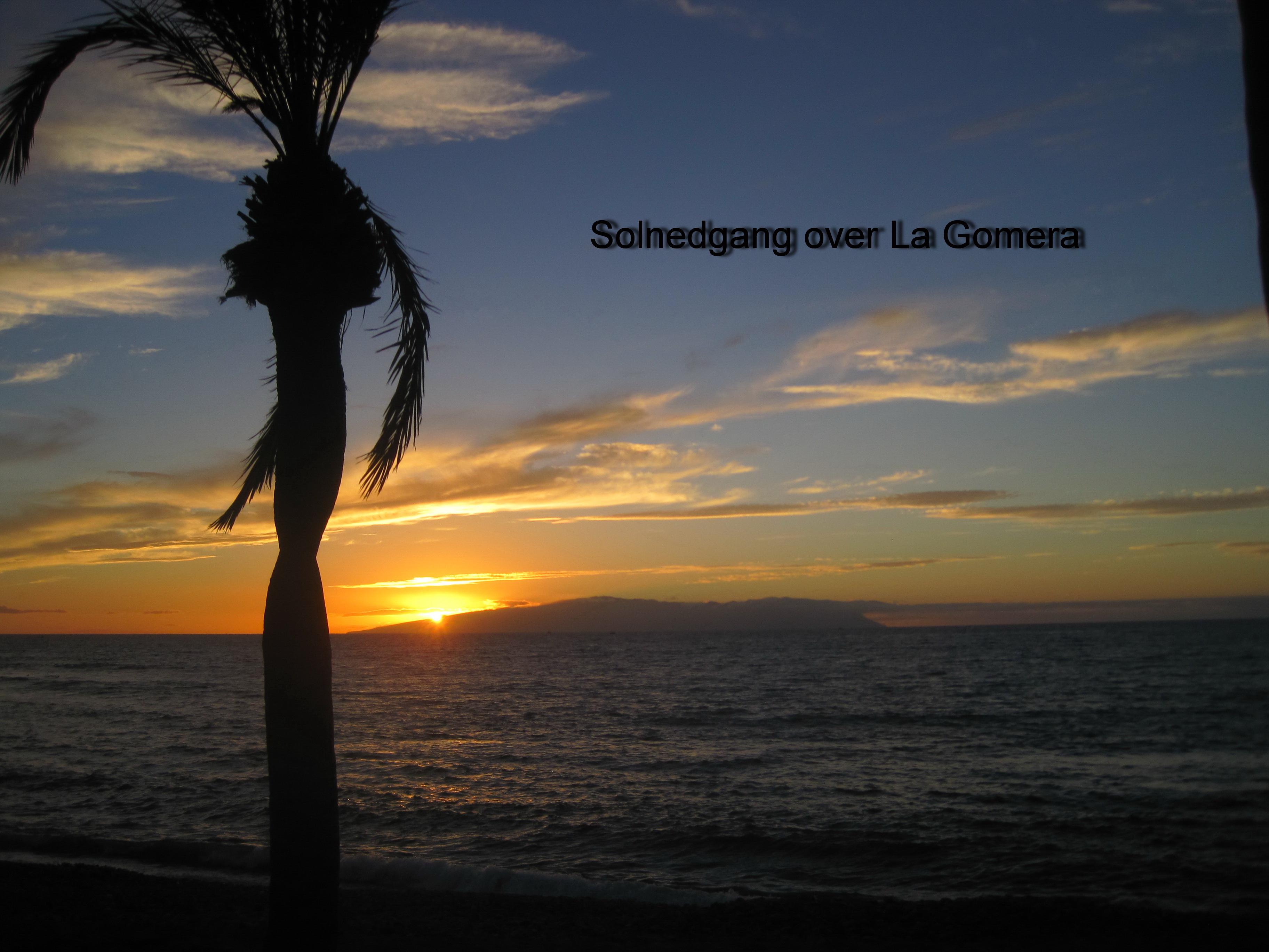 Solnedgang La Gomera m tekst